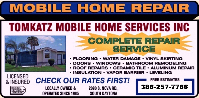 Tomkatz Mobile Home Services Inc Serving All Of Volusia County